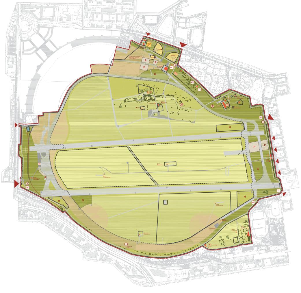 Karte vom Tempelhofer Feld